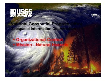 National Geospatial Program Office Organizational ... - EMForum.org
