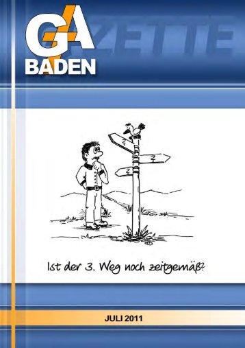 Arbeitsgruppen - Gesamtausschuss Baden