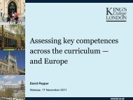 Assessing key competences across the curriculum — and Europe