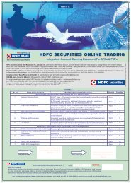 NRI - HDFC securities 4 in 1 online Investment Account Form