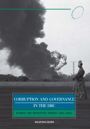 Corruption and governance in the DRC - AfriMAP