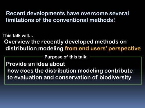 Species distribution models