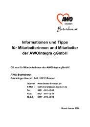 Informationen und Tipps für Mitarbeiterinnen und Mitarbeiter der ...