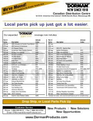 Local parts pick up just got a lot easier. - Dorman Products