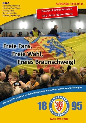 Heft 10: Jahn Regensburg - FanPresse Braunschweig