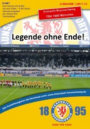 Heft 01: 1860 München - FanPresse Braunschweig