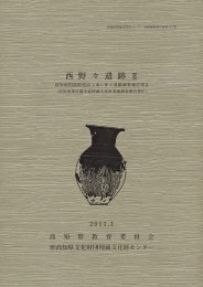 西 野 々 遺 跡 Ⅱ - 高知県文化財団