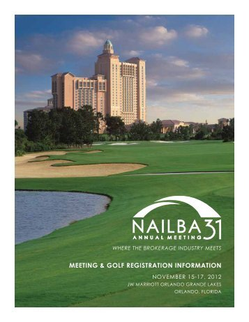 MEETING & GOLF REGISTRATION INFORMATION - Nailba