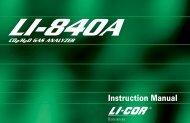 LI-840A Manual - LI-COR
