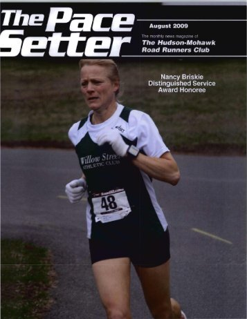 The Pace Setter August 2009 - Hudson Mohawk Road Runners Club