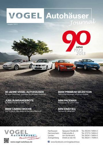 jubiläumsangebote bmw cabrio woche bmw premium selection 90 ...