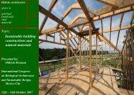 Sustainable building construction, International Bio architecture ...