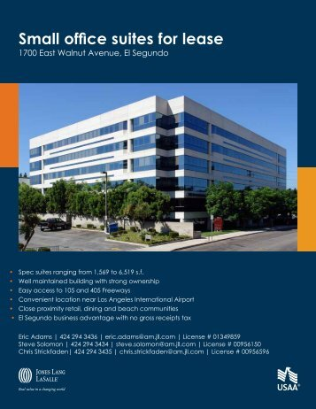 Small office suites for lease