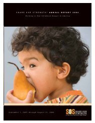 September 1, 2005 through August 31, 2006 - No Kid Hungry