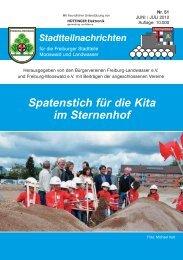 Spatenstich für die Kita im Sternenhof - Bürgerverein Freiburg ...