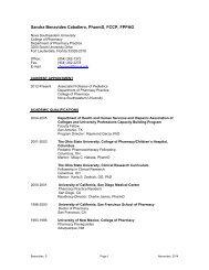 Curriculum Vitae - College of Pharmacy - Nova Southeastern ...