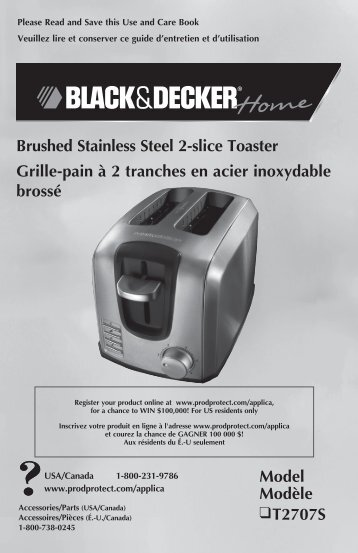 Brushed Stainless Steel 2-slice Toaster Grille-pain à 2 tranches en ...