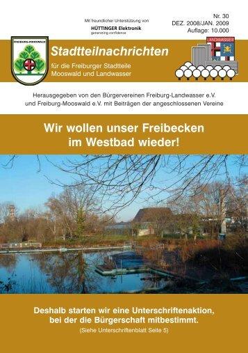 Stadtteilnachrichten Heft 30 - Bürgerverein Freiburg Mooswald ev