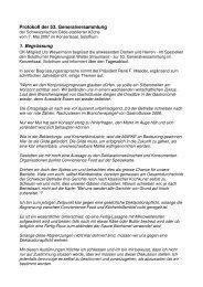 Protokoll der 53. Generalversammlung 1. Begrüssung