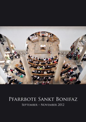 Pfarrbote Sankt Bonifaz - Abtei  und Pfarrei St.Bonifaz München
