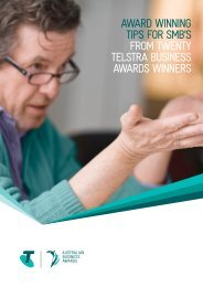 AwArd winning tips for sMB's froM twenty telstrA Business AwArds ...