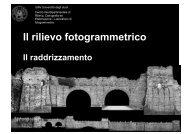 raddrizamento fotogrammetrico e trasformazione proiettiva - Circe