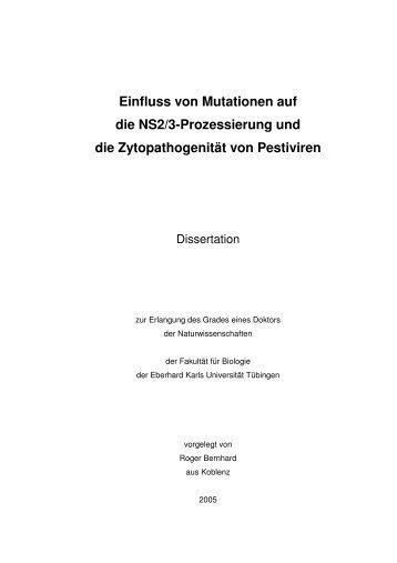 Einfluss von Mutationen auf die NS2/3-Prozessierung und die ...