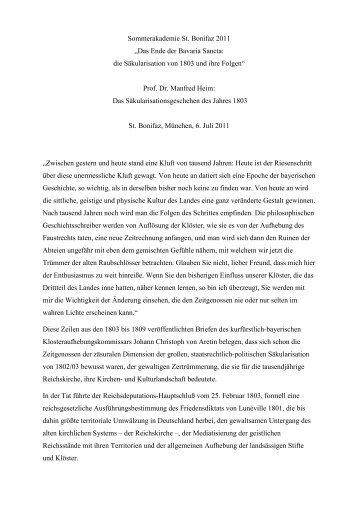 Prof. Dr. Manfred Heim