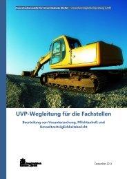 UVP-Wegleitung für die Fachstellen - Koordinationsstelle für ...