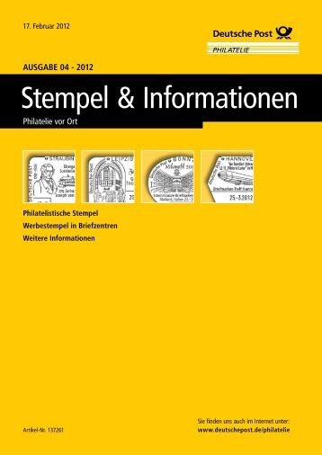 Ausgabe 04 - 2012 | 17. Februar 2012 - Deutsche Post - Philatelie