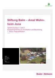 Stiftung Balm – Areal Wohnheim Jona - Basler & Hofmann
