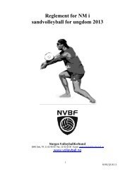Reglement for NM junior, sandvolleyball 2013 - Norges ...