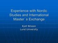 Lund University Expe.. - Nordic Centre