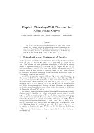 Explicit Chevalley-Weil Theorem for Affine Plane Curves