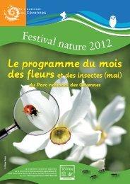 Le programme Festival nature de mai 2012 (pdf-919,75 ko)