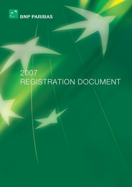 2007 REGISTRATION DOCUMENT