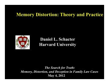 Memory Distortion: Theory and Practice - MA AFCC