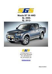 Mazda BT 50 4WD Bj. 2006- Bj. 2012- - SGS