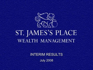 New business contribution 65.3 71.5 - St James's Place