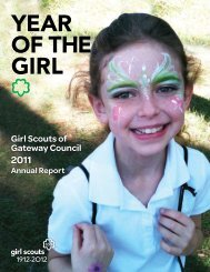 2011 Annual Report - Girl Scouts of Gateway Council