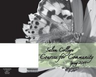 Courses or Community - Salem College