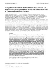 Mitogenetic structure of brown bears (Ursus arctos L.) in ...