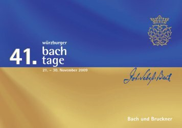 Bachtage 09.indd - Bach Cantatas