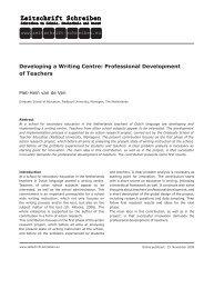 Developing a Writing Centre: Professional Development of Teachers