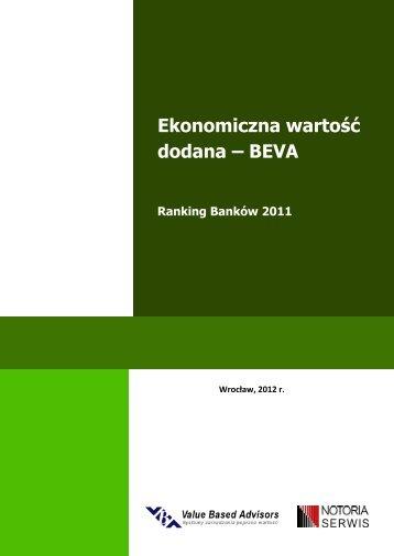 Ekonomiczna wartość dodana – BEVA - Inwestycje