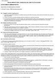 Regolamento per l'accesso ai documenti amministrativi in formato ...
