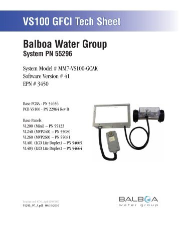 55296, MM7-VS100-GCAK - Balboa Direct