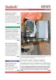 Smart tool strips away radioactivity from buildings - Studsvik
