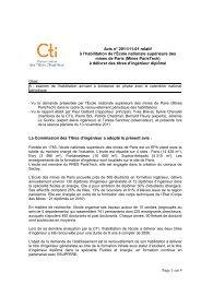 Ecole des Mines de Paris - Commission des Titres d'Ingénieur