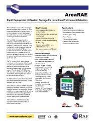 AreaRAE Data Sheet - RAE Systems